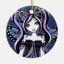 cassandra, gothic, fairy, faery, fae, faerie, fantasy, flower, art, big, eyed, myka, jelina, mika, tattoo, faeries, Ornament with custom graphic design