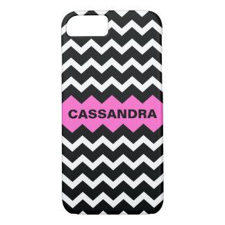 Cassandra Hot Pink Chevron iPhone 8/7 Case
