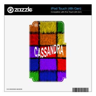 CASSANDRA iPod TOUCH 4G DECAL
