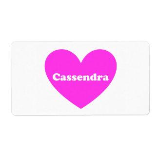 Cassandra Shipping Labels