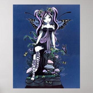 Cassandra Mushroom Flower Fairy Poster print