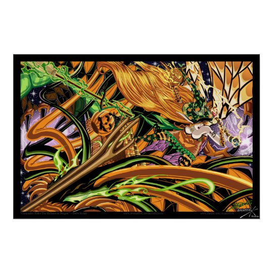 Cassandra Rides The Halloween Dragon Photo Print
