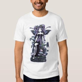 """""""Cassandra"""" Violet Blue Butterfly Fairy Art T-Shirt"""