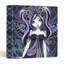 cassandra, flower, butterfly, fairy, faery, faerie, fae, fairies, faeries, pixie, fantasy, art, pitails, violet, blue, bourque, lace, gothic, tattoos, myka, jelina, mika, mushrooms, butterflies and moths, Binder with custom graphic design