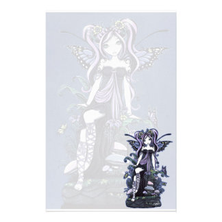 """Cassandra"" Violet Butterfly Fairy Art Stationery"