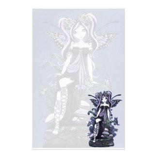 """""""Cassandra"""" Violet Butterfly Fairy Art Stationery"""