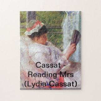 Cassat - señora de la lectura (Lydia Cassat) Rompecabeza