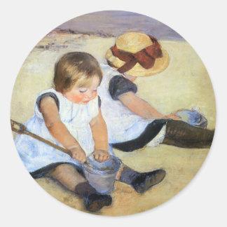 Cassatt: Children Playing on the Beach Stickers