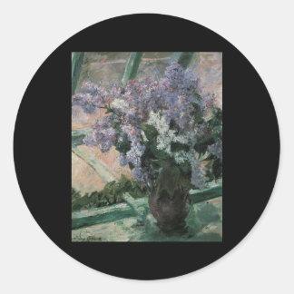 Cassatt Lilacs In A Window Stickers