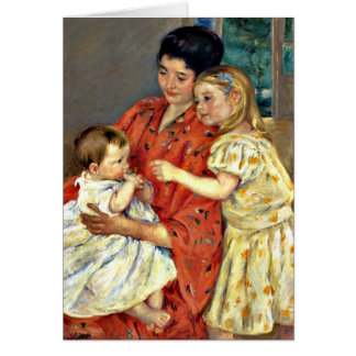 Cassatt - Mother and Sara Admiring the Baby-1901.j Card