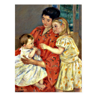 Cassatt: Mother and Sara Admiring the Baby Postcard