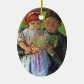 Cassatt: Nurse & Young Girl Ceramic Ornament