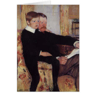 Cassatt-Retrato de Maria de Alexander J.Cassat y h Felicitación