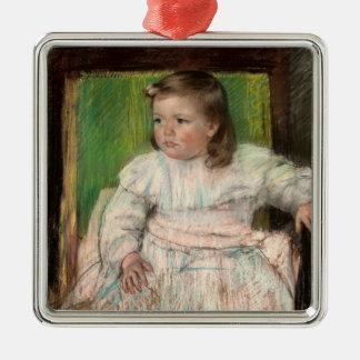 Cassatt: The Pink Sash Silver-Colored Square Decoration