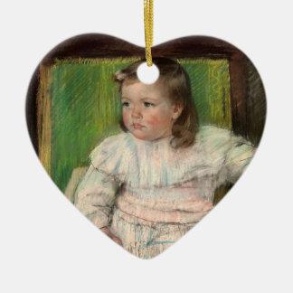 Cassatt: The Pink Sash Ceramic Heart Decoration