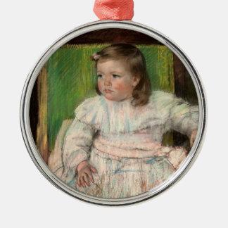 Cassatt: The Pink Sash Silver-Colored Round Decoration