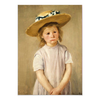 Cassatt's Child in Straw Hat - with a Sweet Smile Card