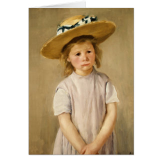 Cassatt's Child in Straw Hat - with a Sweet Smile Cards