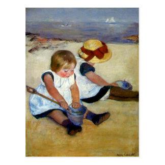Cassatt's 'Children on the Beach' Postcard