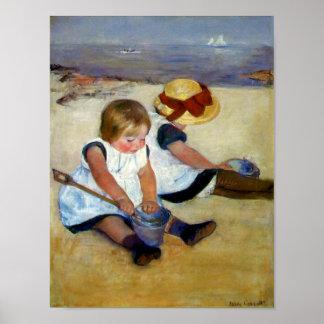 Cassatt's Children on the Beach Poster
