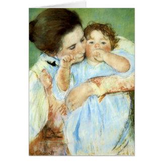 Cassatt's Mother & Child - Card