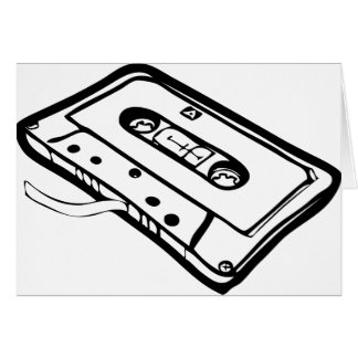 CASSETE TAPE LINE GREETING CARDS