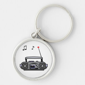 cassette boombox with notes grey.png keychain
