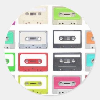 Cassette Classic Round Sticker