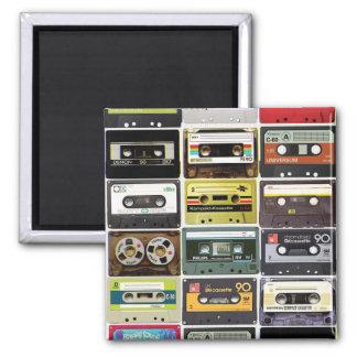Cassette Crazy 2 Inch Square Magnet