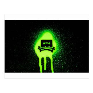 Cassette Crossbones - GeekShirts Postcard