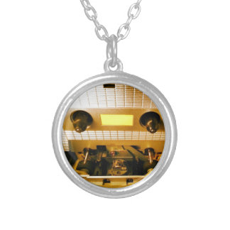 Cassette Deck Silver Plated Necklace