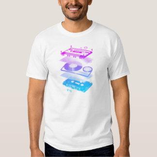 Cassette Explosion View - Music Tape Retro DJ Shirt