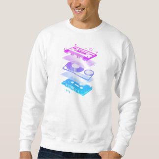 Cassette Explosion View - Music Tape Retro DJ Sweatshirt