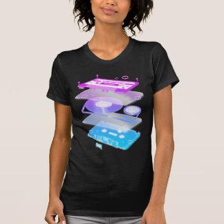 Cassette Explosion View - Music Tape Retro DJ T-shirt