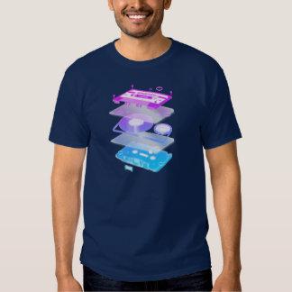 Cassette Explosion View - Music Tape Retro DJ Tee Shirt