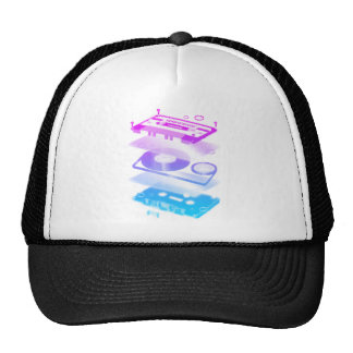Cassette Explosion View - Music Tape Retro DJ Trucker Hat