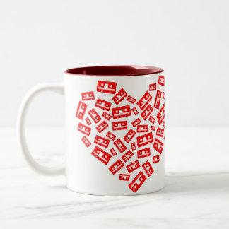 Cassette Heart Mug