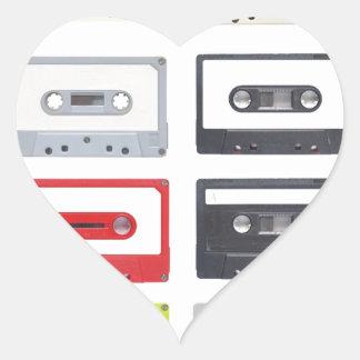 Cassette Heart Sticker
