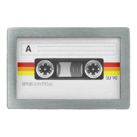 Cassette label belt buckle