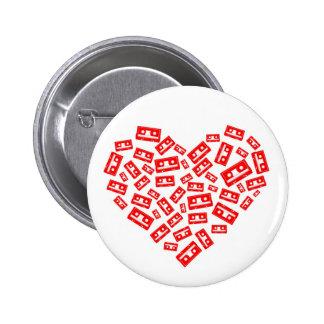 Cassette Love Pinback Button