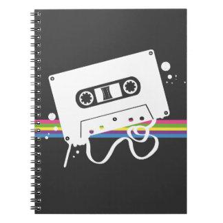 Cassette Notebool (Grey, but customizable) Spiral Notebook