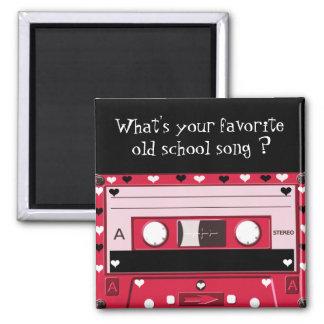 Cassette of love_ 2 inch square magnet