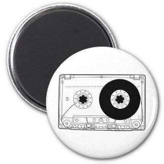 cassette retro graphic vintage t-shirt casette 2 inch round magnet