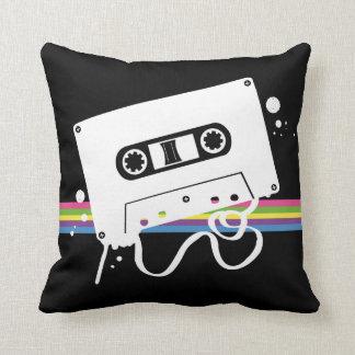 Cassette Stencil Black BG Pillow