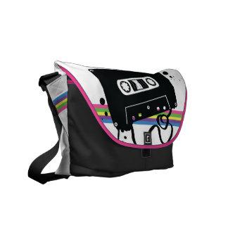 Cassette Stencil Messenger Bag