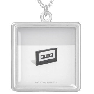 Cassette Tape 2 Silver Plated Necklace