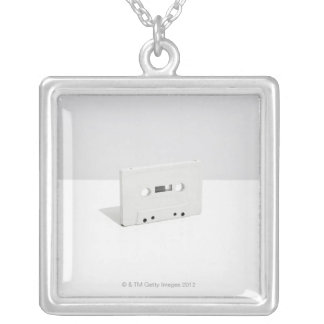 Cassette Tape 4 Silver Plated Necklace