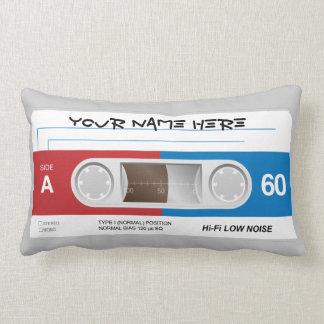 Cassette Tape American MoJo Lumbar Pillow