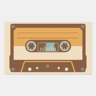 Cassette Tape Analog Design Rectangular Sticker