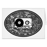 Cassette Tape Black & White Cards